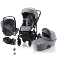 Детская коляска 3-в-1 Britax Roemer Smile III Plus, Frost Grey
