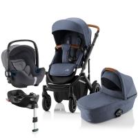 Детская коляска 3-в-1 Britax Roemer Smile III Plus, Indigo Blue