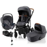 Детская коляска 3-в-1 Britax Roemer Smile III Plus, Midnight Grey