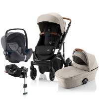 Детская коляска 3-в-1 Britax Roemer Smile III Plus, Pure Beige/Black
